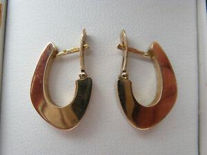 9ct hoop earrings