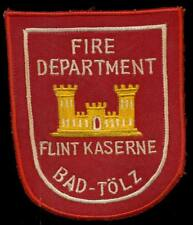 US Army Fire Dept Germany Flint Kaserne Bad-Tolz Special Forces Patch S-11