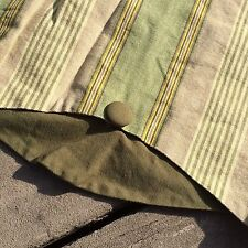 Waverly Home Clics Yacht Club Striped Scalloped Valance Sage Green Topper