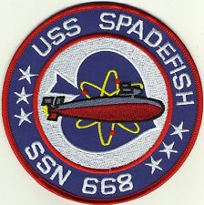 USS Spadefish SSN 668 Submarine Fast Attack Patch - BC Patch Cat No. 5350