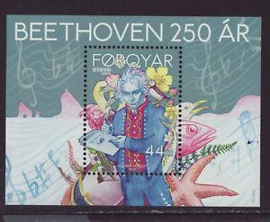 Faroe Islands 2020 MNH - Ludwig van Beethoven 250 Years  - m/sheet
