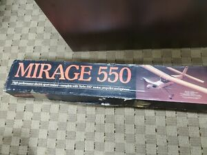 Vintage NIB Carl Goldberg Mirage 550 Electric Radio Control R/C Kit