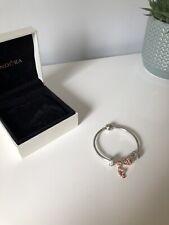 Ladies pandora Silver and Rose Gold Bracelet LOOK!!!
