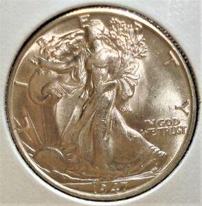 1947 Silver Liberty Walking Half Dollar