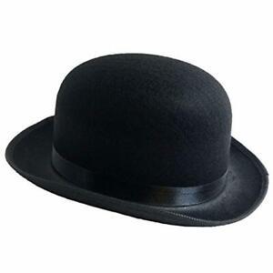 Traditional Derby Hat Bowler Men Fashion Felt Style Gentleman Costume Bob Black