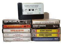 Classic Country Cassette 11 Tape Lot . Kenny Rogers, Hank Williams jr and on.