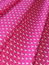 PRETTY ROSE & HUBBLE CERISE FLAMINGO PRINT FABRIC 100% COTTON HALF METRES