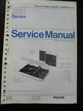Original Service Manual Philips Record Changer Amplifier 22gf851
