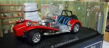 CATERHAM 7 RED 1:18 ON ALLOY BLACK RHD INTERIOR BLUE RACING BELTS KYOSHO 7 SEVEN