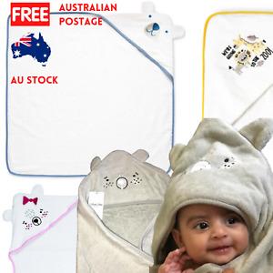Baby hooded towel 100% Cotton bath beach NEW infant Kids wrap Modern Styles