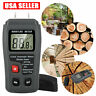 Digital LCD Wood Moisture Meter Detector Portable Firewood Cardboard Tester USA