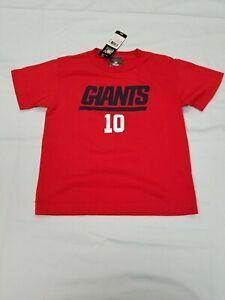*NEW* NFL Team Apparel New York Giants 10 Eli Manning T-Shirt Boys Sz M-5/6, L-7