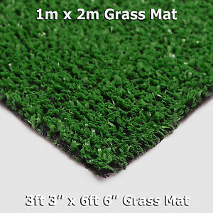 Artificial Grass Mat Greengrocers Fake Astro Turf Grass 1m x 2m Lawn Green CHEAP