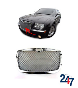 FRONT BENTLEY CENTER GRILLE MESH STYLE CHROME FOR CHRYSLER 300C -11