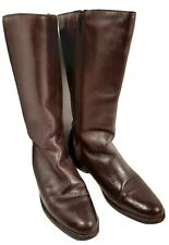 ACME DINGO Boots 8.5 M  Brown Leather Boots Side Zip 12 Inch Western Boot