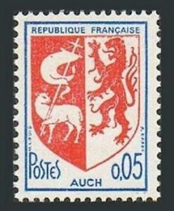 France 1142 block/4,MNH.Michel 1534 Arms of cites,1966.Auch.