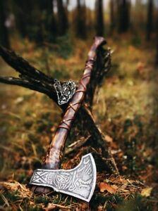 """Premium Viking Combat  Axe """"Norwegian Viking"""" Handmade Custom Handforged"""