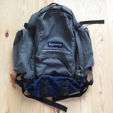 VINTAGE SUPREME 4TH EVER BACKPACK 1998 GRAY BAG BOX LOGO CORDURA HOLY GRAIL