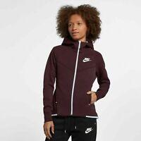 Nike Tech Fleece Windrunner Women's Hoodie  Burgundy Crush 930759 652