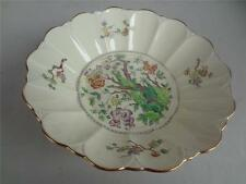 Antique  Tuscan Porcelain  Bowl Bird / Floral  English 1920's