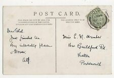 Miss Ethel Humber Guildford Road Fratton Portsmouth 1907 307a