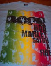 BOB MARLEY CATCH A FIRE T-Shirt 2XL XXL EXTRA LONG NEW