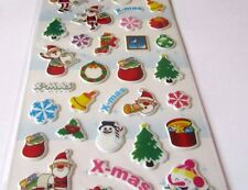 Christmas snowman santa tree Stickers- card making/Scrapbooking
