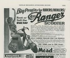 1939 Mead Cycle Co. Ad Ranger Scooter Dealer Offer Motoscooter Motorcycle