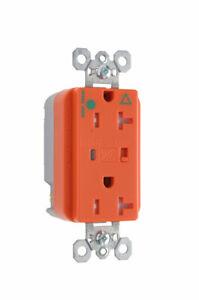 Tamper-Resistant Isolated Ground Surge Protective Duplex Receptacle, Orange