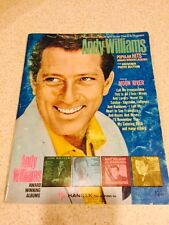 ANDY WILLIAMS PIANO-VOCAL ALBUM W/GUITAR CHORDS AND DIAGRAMS 1963-64