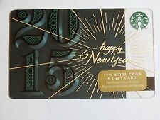 2014 - Happy New Year - Holiday Issue Starbucks Card - New & Never Swiped