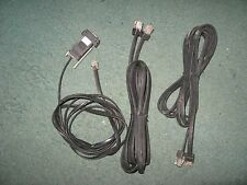 Motorola Radio Monitoring System Data Cables Assorted - Used Qty 3