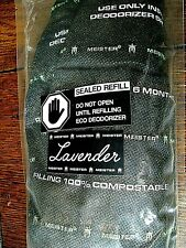 1 Pair Meister Shoe & Glove Eco Deodorizer Refill Lavender Factory Sealed