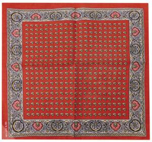 "Multi color Paisley Red 22""x22"" 100% Cotton Bandanna Bandana"