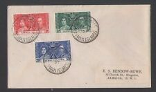 CAYMAN Islands 1937 KGVI Coronation FDC