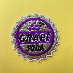 DISNEY UP GRAPE SODA EMBROIDERED APPLIQUÉ PATCH SEW OR IRON ON