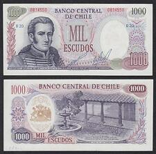 Chile   1000 Pesos  1971   Pick 146(2)   SC = UNC