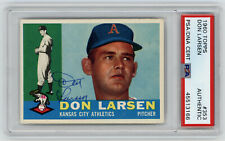 1960 ATHLETICS Don Larsen signed card Topps #353 AUTO PSA/DNA Slab Autographed