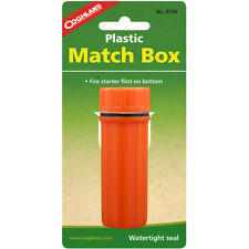 Coghlan's Plástico Match Box Estojo à prova d 'água Com Fogo Pederneira Flint Striker Laranja