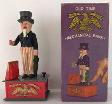 Vintage 1970's Uncle Sam USA Plastic Mechanical Coin Bank Novelty Toy Hong Kong