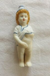 BEAUTIFUL RARE PEEING WEEING GERMAN BISQUE FIGURE OF A YOUNG BOY (293)
