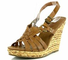 Corso Como DIVER Brown Leather Wedge Sandals 7392 Size 10 M NEW!