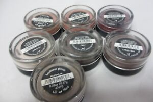 bareMinerals  eyecolor~glimmer~blush~liner shadow  each 0.02oz. New/Sealed