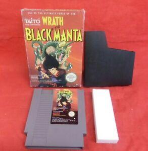 WRATH OF THE BLACK MANTA - USED BOXED NO MANUAL - NINTENDO NES - UK PAL