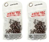 """WAR TEC 16"""" Chainsaw Saw Chain Pack Of 2 Fits FLORABEST FKS2200"""