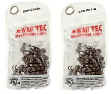 "WAR TEC 16"" Chainsaw Saw Chain Pack Of 2 Fits FLORABEST FKS2200"