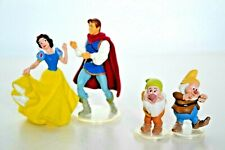 "Disney Snow White, Prince Florian & Dwarfs Dancing Figures /Cake Topper,2"" Tall"