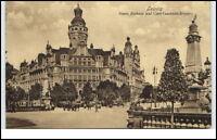 Leipzig Sachsen Ansichtskarte 1912 gelaufen Neues Rathaus Carl Tauchnitz Brücke