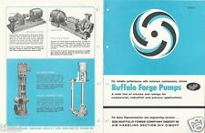 1969 BUFFALO FORGE Pumps Commercial Industrial Product ASBESTOS History Brochure