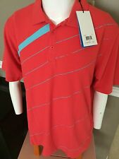$70 Ping Fade Out Polo Shirt PS15-UV Protection - Cayenne w/Surf 14F1182-118 LG